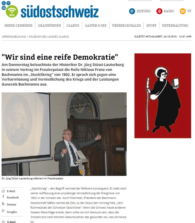 2015-10-24 Vortrag Jürg Stüssi-Lauterburg
