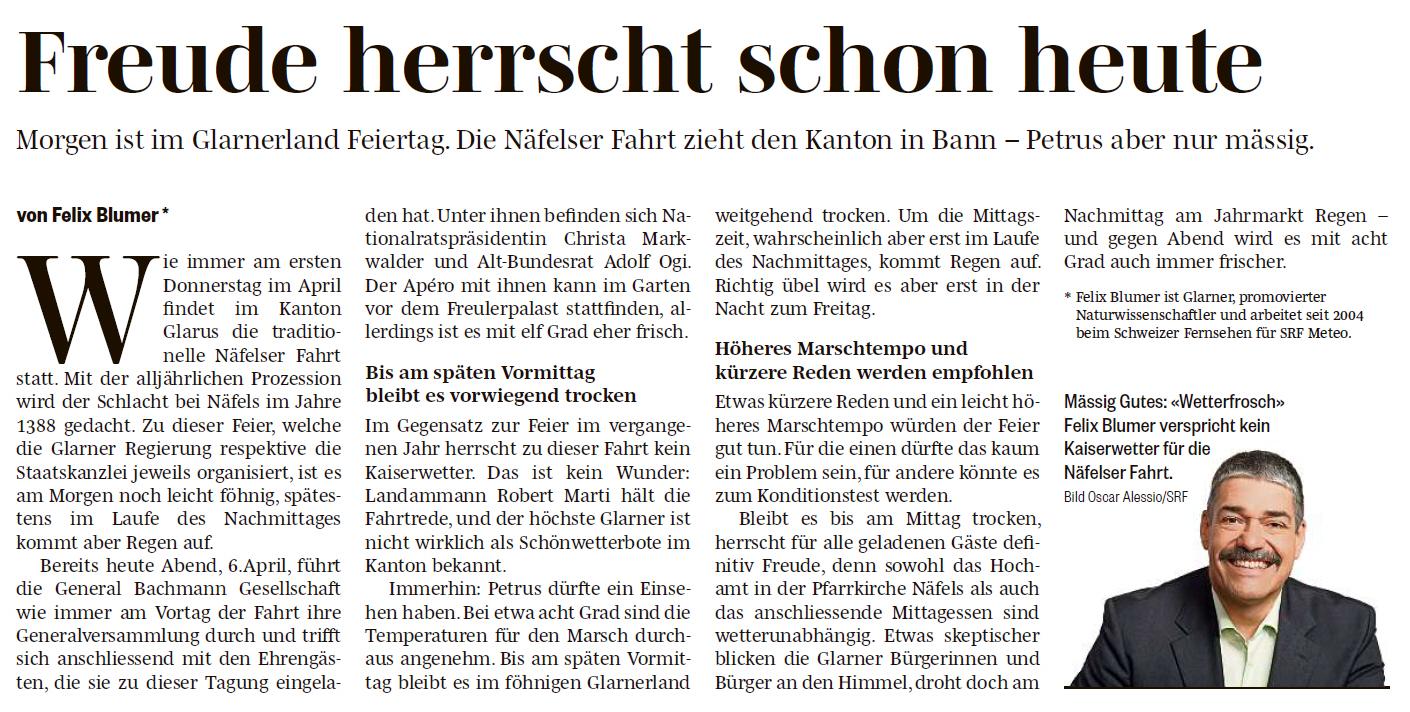20160406 Südostschweiz Titelseite