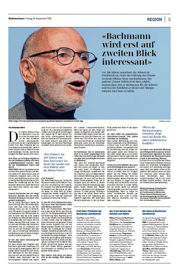 Bericht Südostschweiz