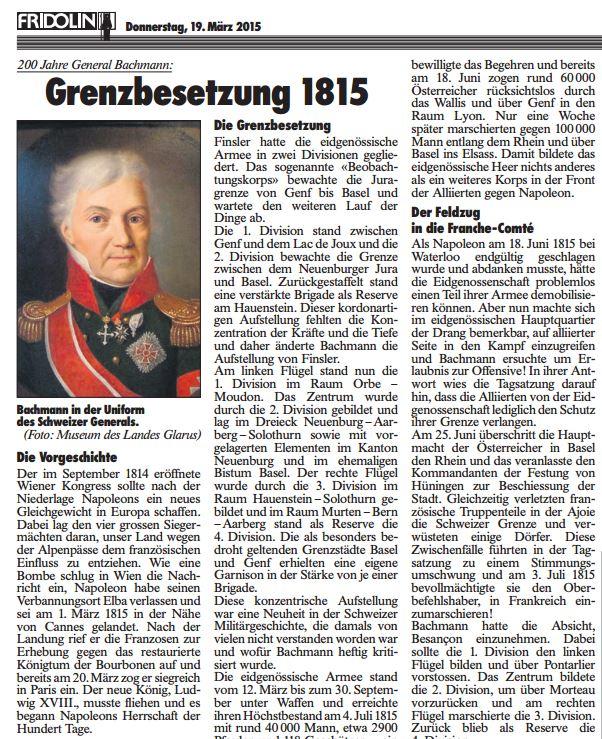 Grenzbesetzung 1815 - Seite 1